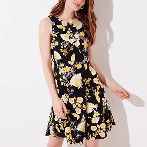 Black floral dress never worn